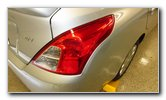 2012-2019 Nissan Versa Tail Light Bulbs Replacement Guide