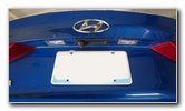 2017-2020 Hyundai Elantra License Plate Light Bulb Replacement Guide