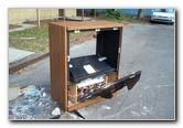 Mitsubishi Big Screen TV Destruction