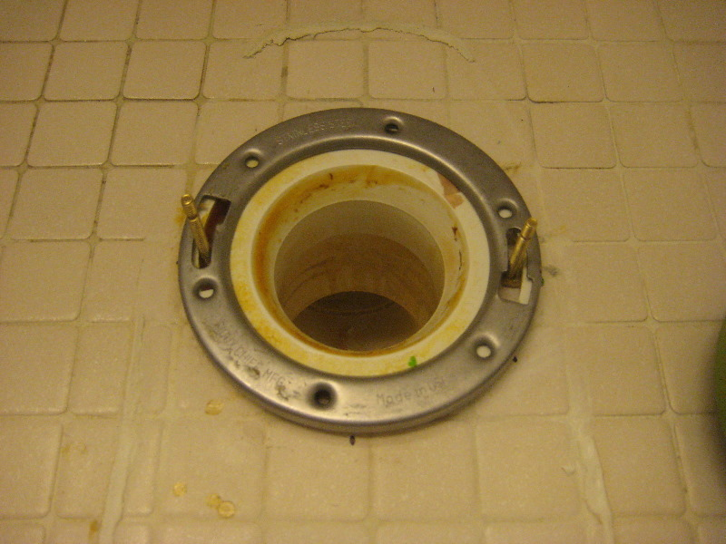 Broken Plastic Toilet Flange Metal Repair Ring