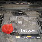 2011-2012 Chevy Equinox LFW 3.0L V6 Engine Oil Change Guide