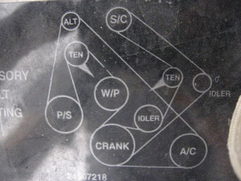 3 8 Gm Serpentine Belt Diagram Wiring Diagram Schema