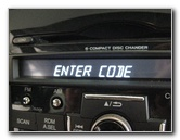 Honda CR-V Radio Serial Number Retrieval & Code Entry ...