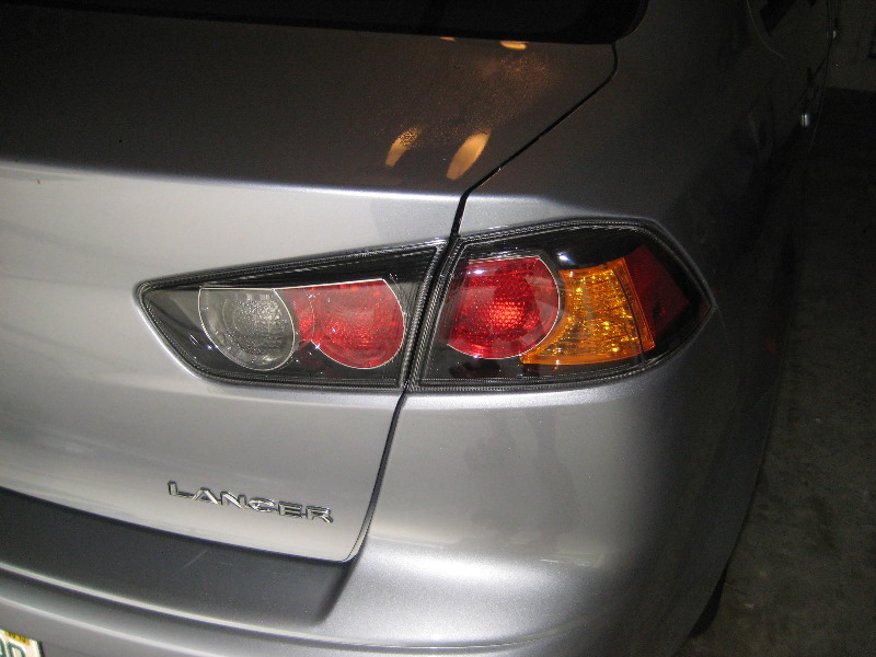 Mitsubishi Lancer Tail Light Bulbs Replacement Guide 001
