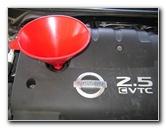 2002-2006 Nissan Altima 2.5L Engine Oil Change Guide