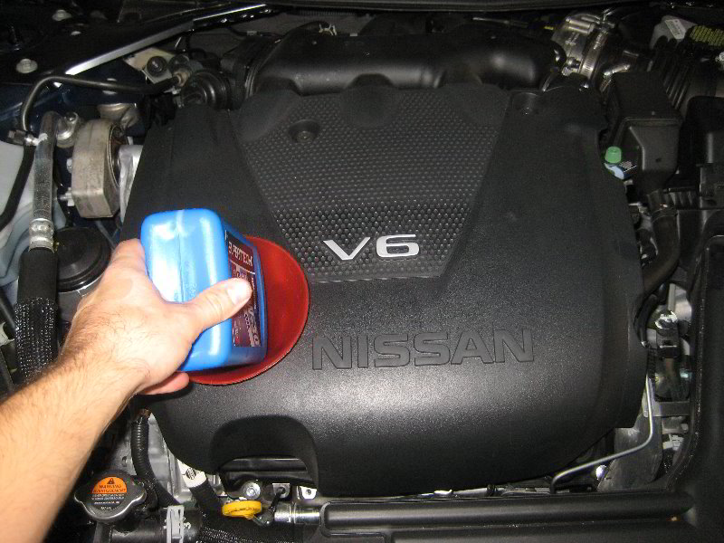 Nissan-Maxima-VQ35DE-V6-Engine-Oil-Change-Filter-Replacement