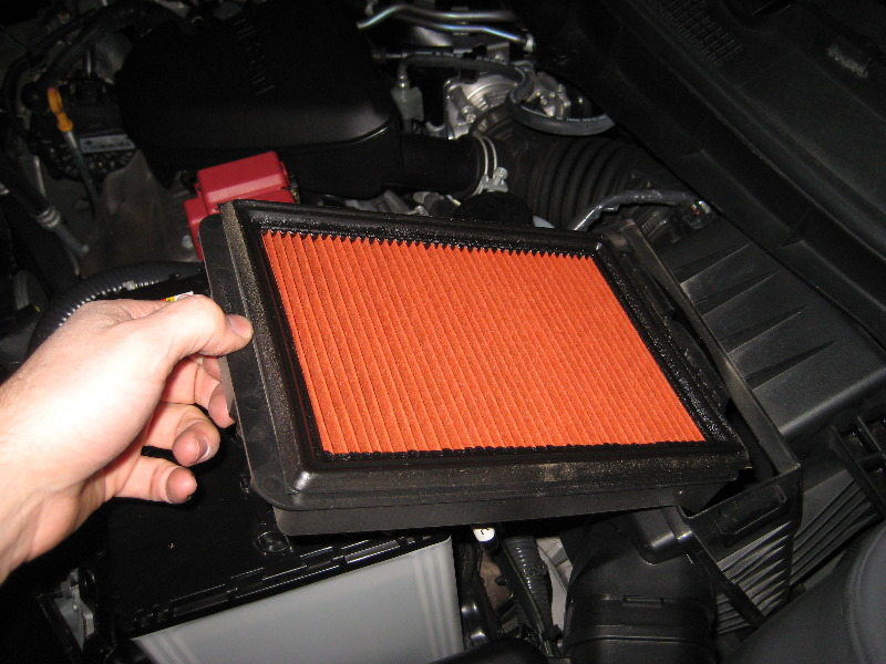 Nissan Rogue Engine Air Filter Replacement Guide on Nissan Qr25de Engine