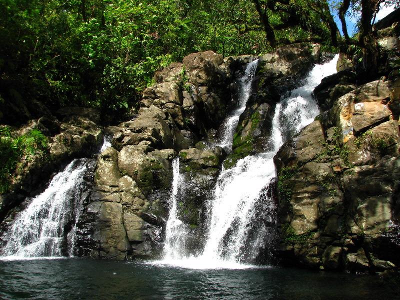 Tavoro River Waterfalls Bouma Park Taveuni Fiji 114